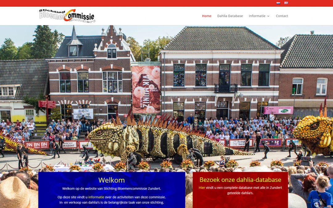 Nieuwe site voor Bloemencommissie Zundert