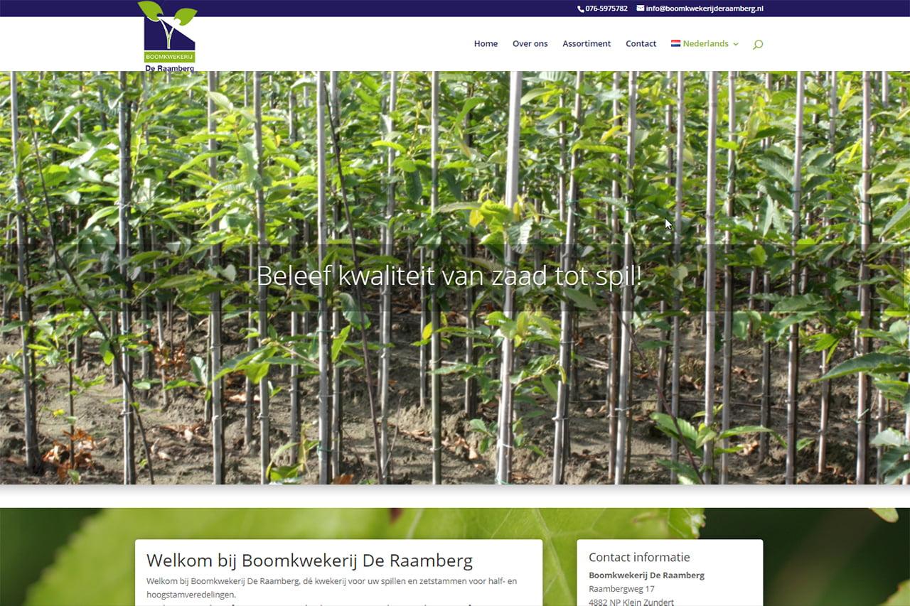 Boomkwekerij De Raamberg met nieuwe layout