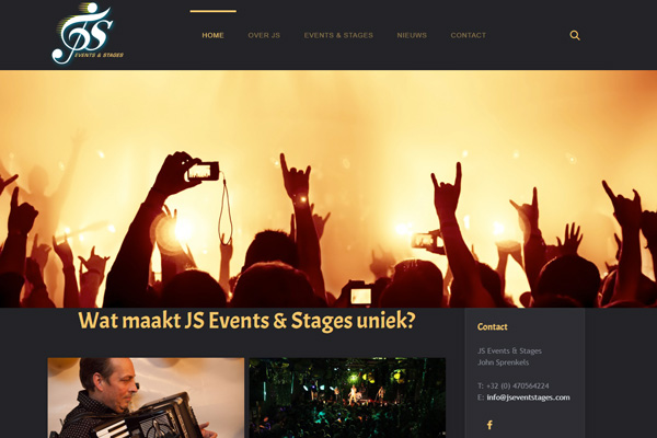 JS Events & Stages vernieuwde website