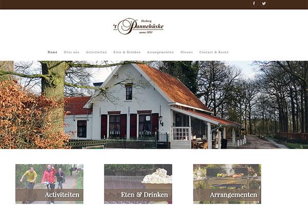 Nieuwe website voor Herberg 't Pannehûske