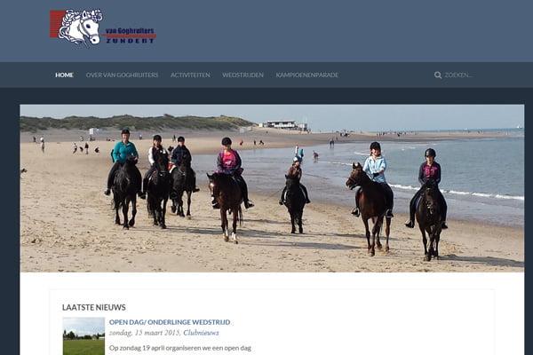 Ponyclub Van Goghruiters heeft nieuwe website