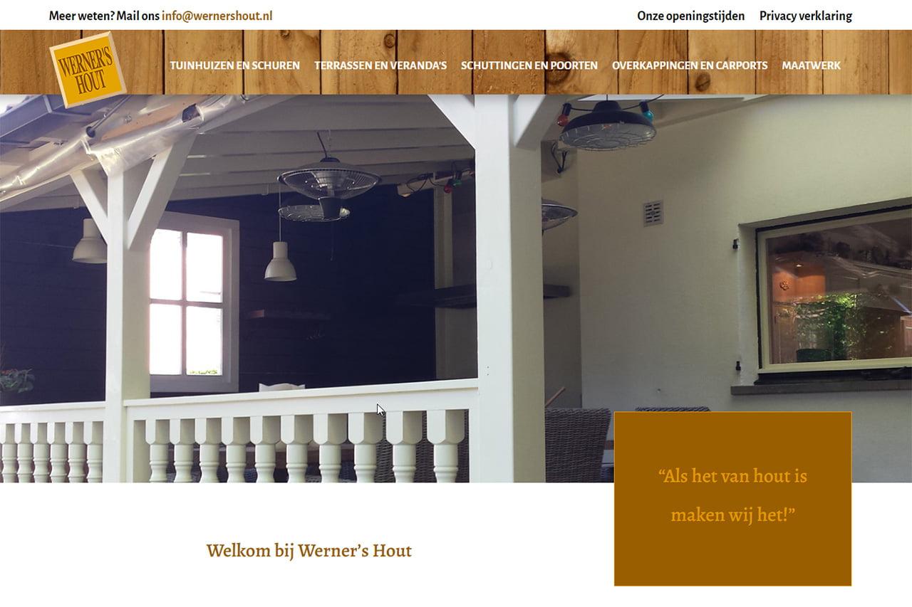 Nieuwe website voor Werner's Hout