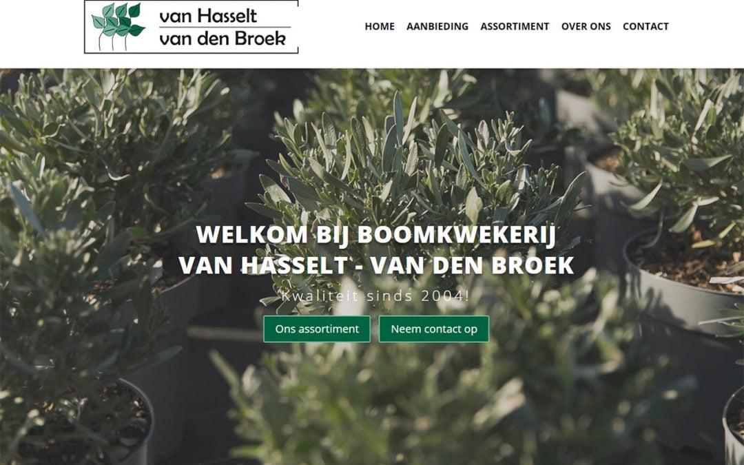 Nieuwe website voor Boomkwekerij Van Hasselt-Van den Broek