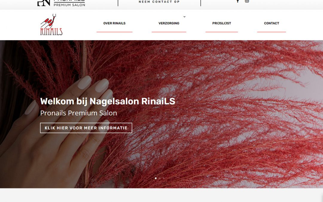Nagelsalon RinaiLS met een eigen website